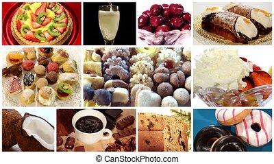 collage, desserts, divers