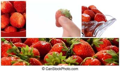 collage, fraises