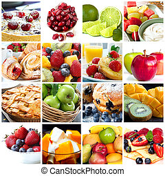 collage, fruits