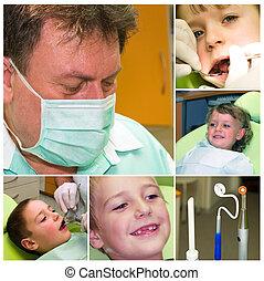collage, médecine, dentaire