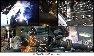 collage, metalworking