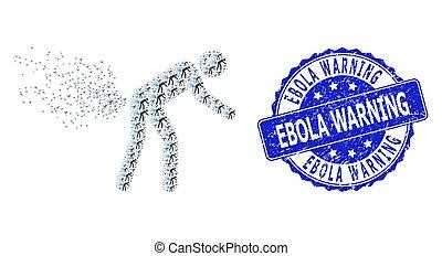 collage, rond, recursive, icône, ebola, gratté, timbre, personne, cachet, avertissement, farting