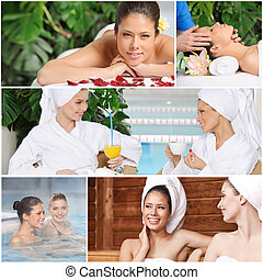 collage, spa