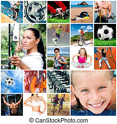 collage, sports