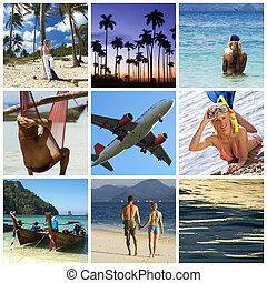 collage, vacances