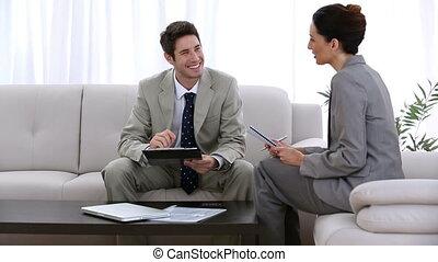 colleagu, réunion, homme affaires