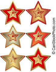 collection, étoiles, (vector)