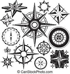 collection, compas