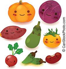 collection, fruit, légume
