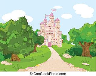 colline, château