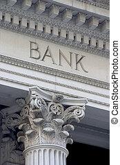 colonne, banque