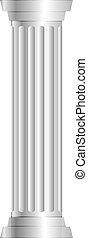 colonne, gris, vecteur, illustration