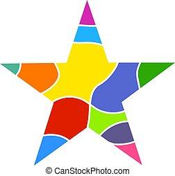 coloré, étoile