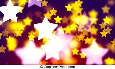 coloré, 1080, hd, étoiles, tomber, boucle