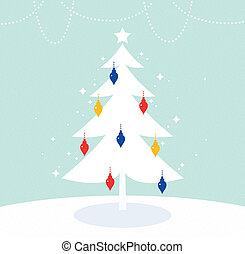 coloré, arbre, retro, noël, magique, décoration