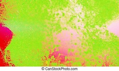 coloré, arrière-plan., en mouvement, résumé, 4k, beau, particules