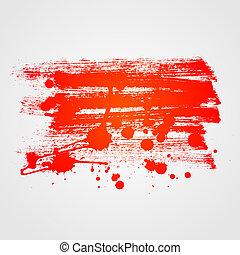 coloré, arrière-plan., résumé, peinture, vecteur, bannière