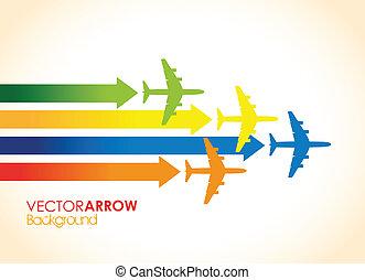 coloré, avions