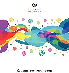 coloré, couleur, résumé, space., éclaboussure, fond, blanc, copie