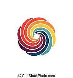 coloré, couleurs, image, logo., tourbillon, résumé, huit