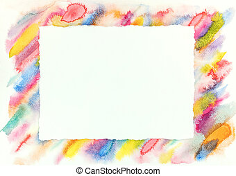 coloré, coups, modèle, cadre, diagonal, aquarelle, clair