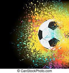 coloré, eps, fond, 8, football, ball.