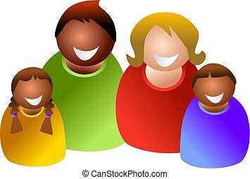 coloré, famille