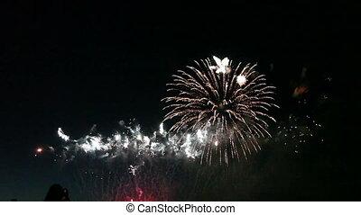 coloré, feux artifice, célébration