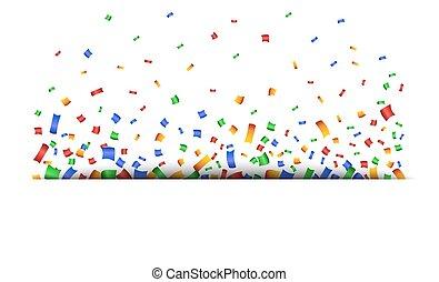 coloré, fond, célébration, confetti.