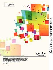 coloré, fond, résumé, spectre, brochure., mosaïque