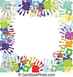 coloré, handprints