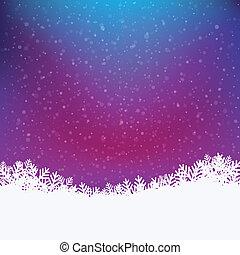 coloré, hiver, fond, neigeux