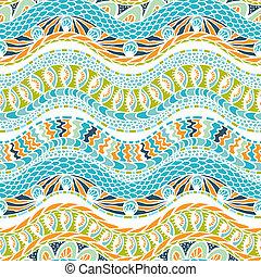 coloré, ornement, pattern., seamless, vecteur, ethnicité