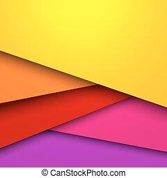 coloré, posé couches, résumé, space., vecteur, fond, copie