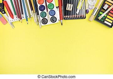 coloré, processus, bureau, education, stationnaire