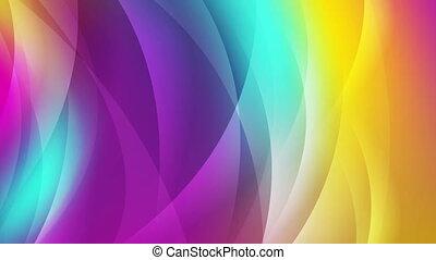 coloré, résumé, animation, vidéo, vagues, brillant