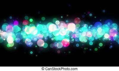 coloré, résumé, particules, bokeh, 4k, fond, boucle