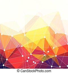 coloré, résumé, vecteur, fond, conception, triangles