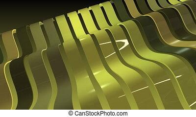 coloré, raies, vague, mouvement, arrière-plan., reflections., rang, 3d