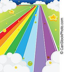 coloré, route
