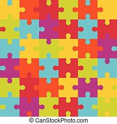 coloré, seamless, modèle, vecteur, pieces., puzzle