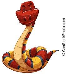 coloré, serpent