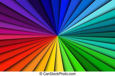 coloré, simple, patternwith, résumé, spectre, illustration, lignes, clair, vecteur, fond