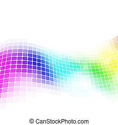 coloré, space., mosaïque, fond, copie