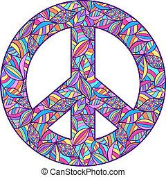 coloré, symbole paix