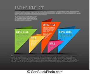 coloré, timeline, sombre, infographic, gabarit, rapport