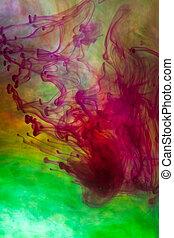 coloré, très, résumé, mouvement, fond, barbouillage