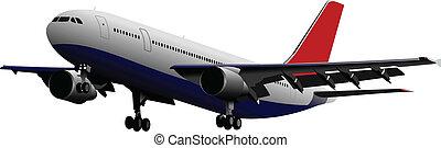 coloré, vect, passager, airplanes.