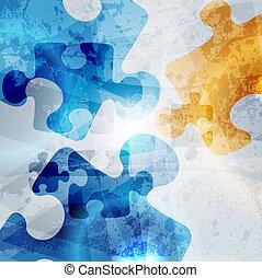 coloré, vendange, résumé, arrière-plan., forme, vecteur, conception, constitué, puzzle
