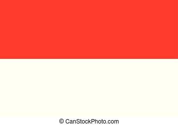 color), pays, national, drapeau indonésie, (red, blanc